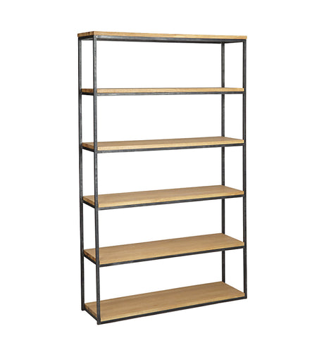 Calia Tall Narrow Oak Bookcase