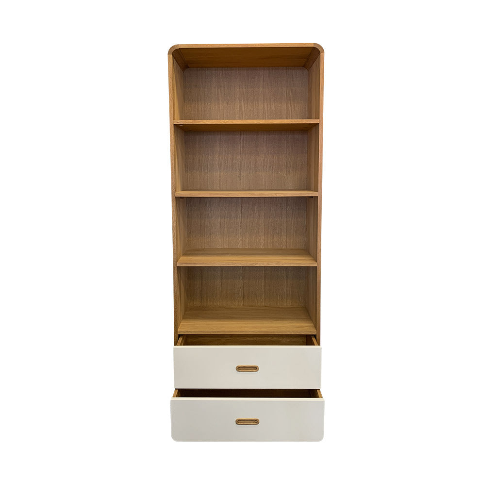 Enza bookcase, curved corners, Scandinavian inspired