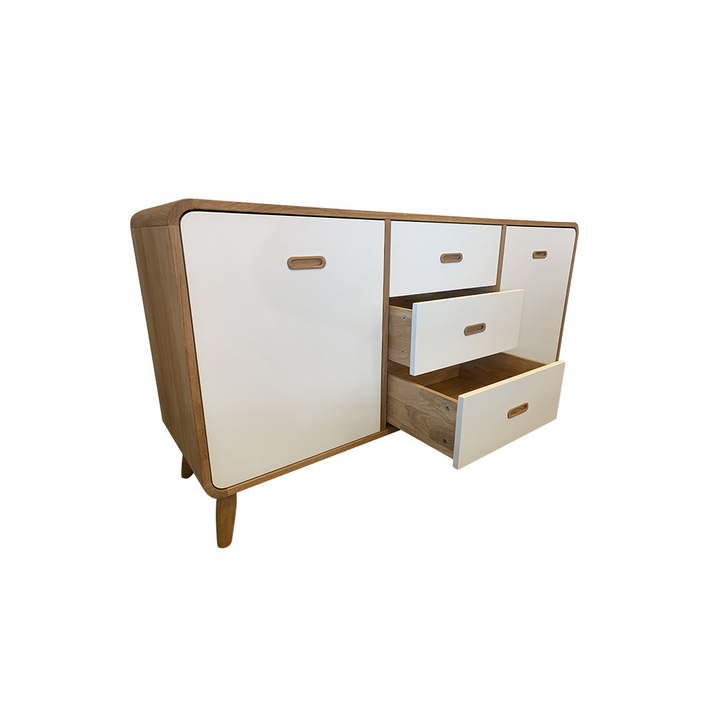 Enza 3 section sideboard with drawers