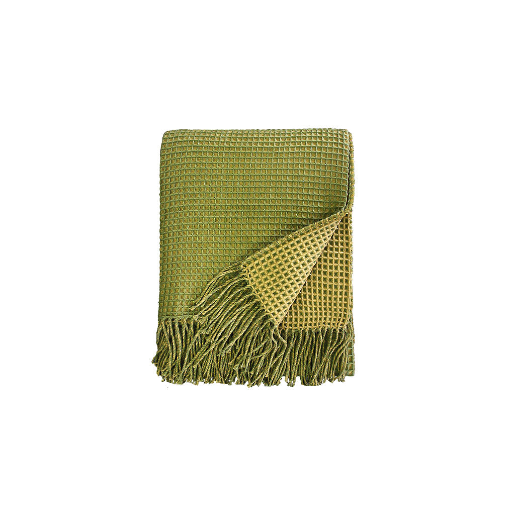 Estella Throw - Moss/Chartreuse
