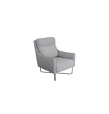 Trento Chair - Charcoal Urban Sofa Fabric - Black Leg