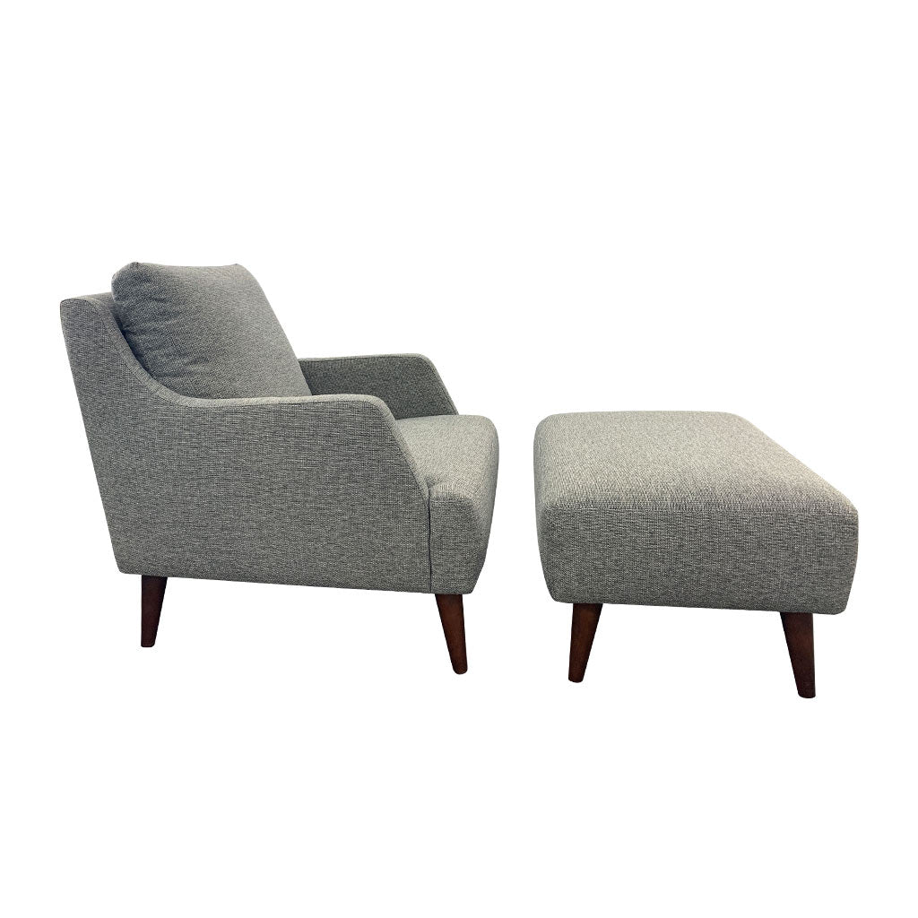 Farrah Chair and Ottoman - Charcoal