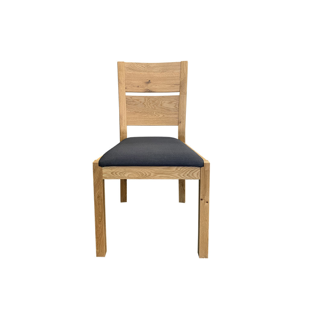 Florence oak dining chair with charcoal fabric seat