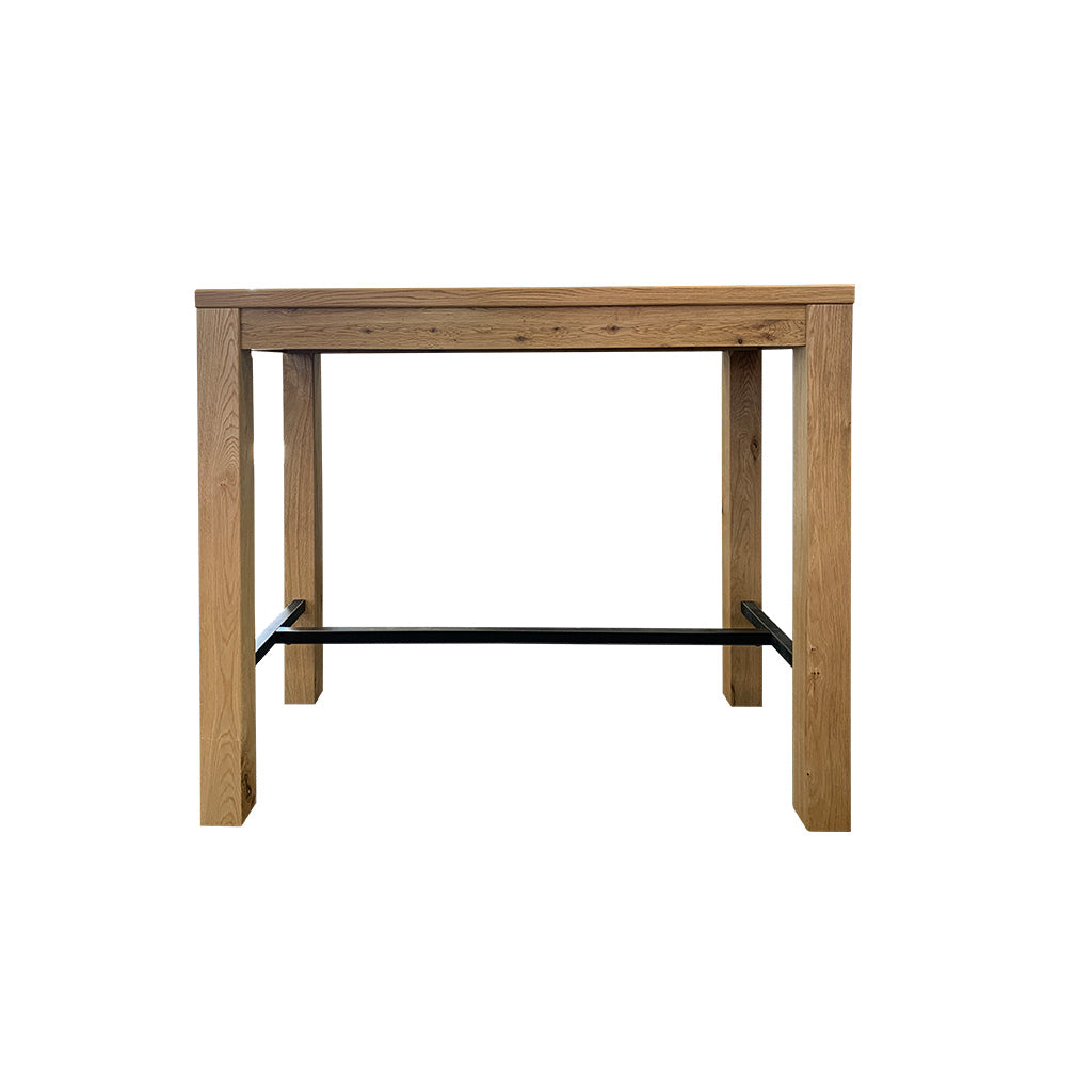 Florence indoor oak bar table