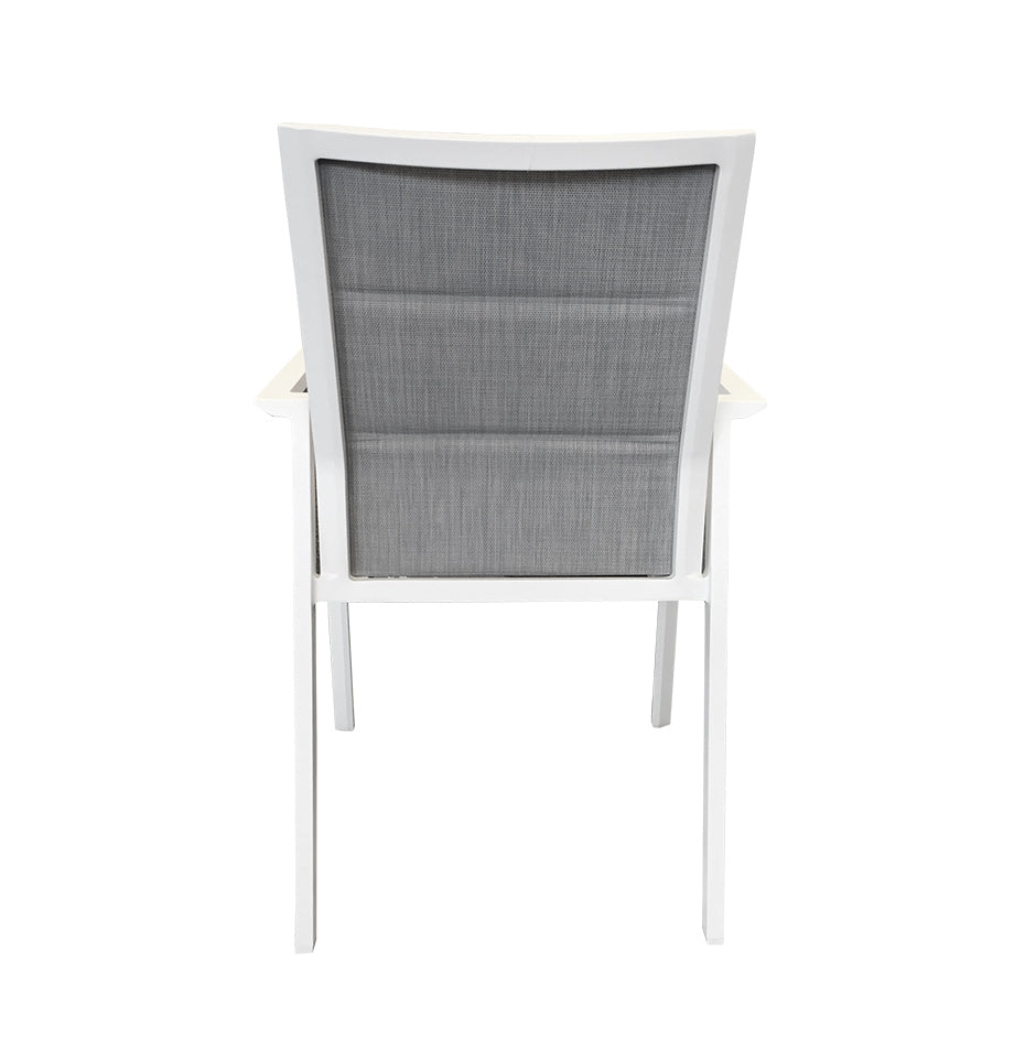 Grove Outdoor Dining Chair - White Powder Coated Aluminium