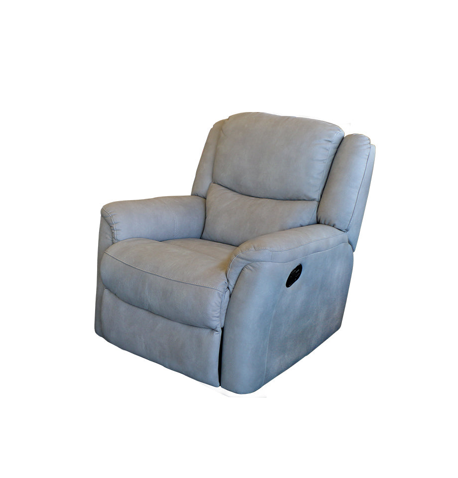 Hepburn R Light Grey Recliner