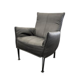 Hugo Steel Chair Eastwood Ebony fabric