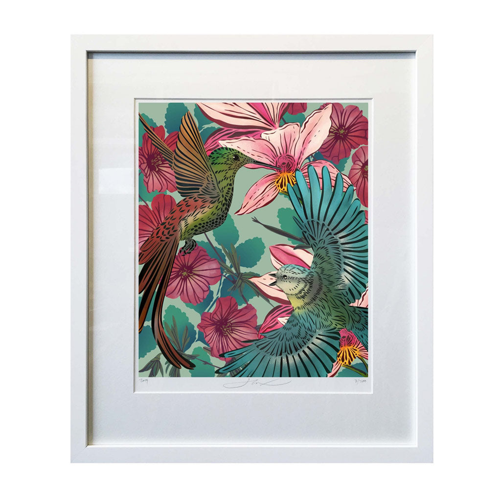 Flox limited edition art print - A4 - Hummingbird
