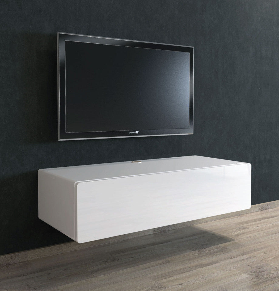 Bondi Floating Entertainment Unit 1120 - High Gloss White - Furnish