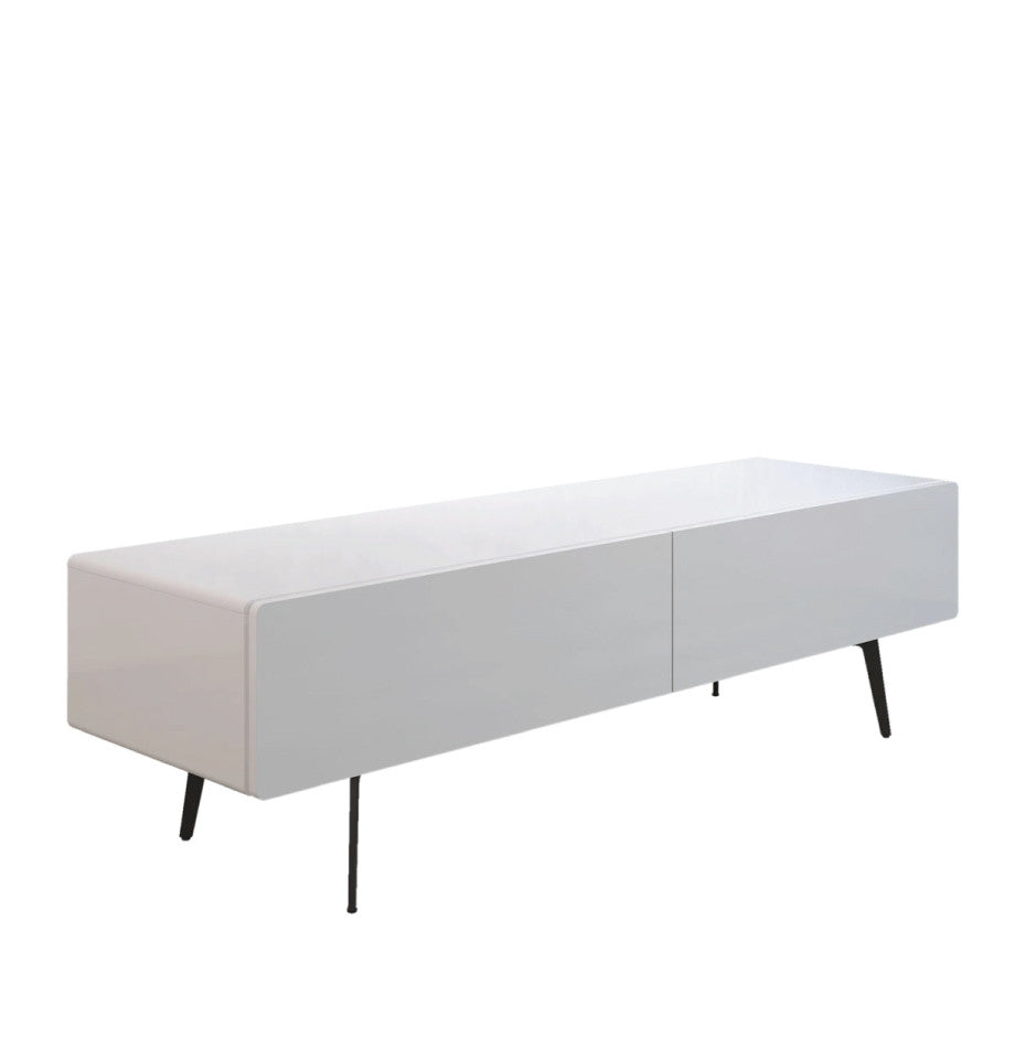 Manly Freestanding Entertainment Unit 2220 - High Gloss White - Living Room Furniture - Furnish