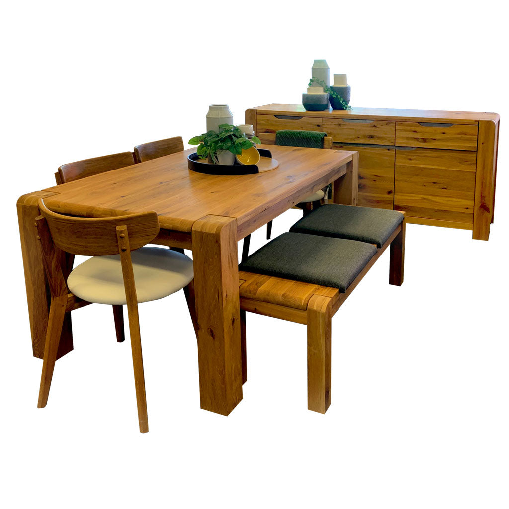 Imola 3-door sideboard and dining table