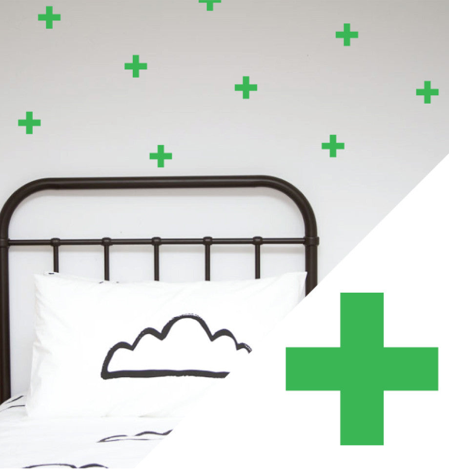 Wall Stickers - Sml Crosses Lime Green Pk 56