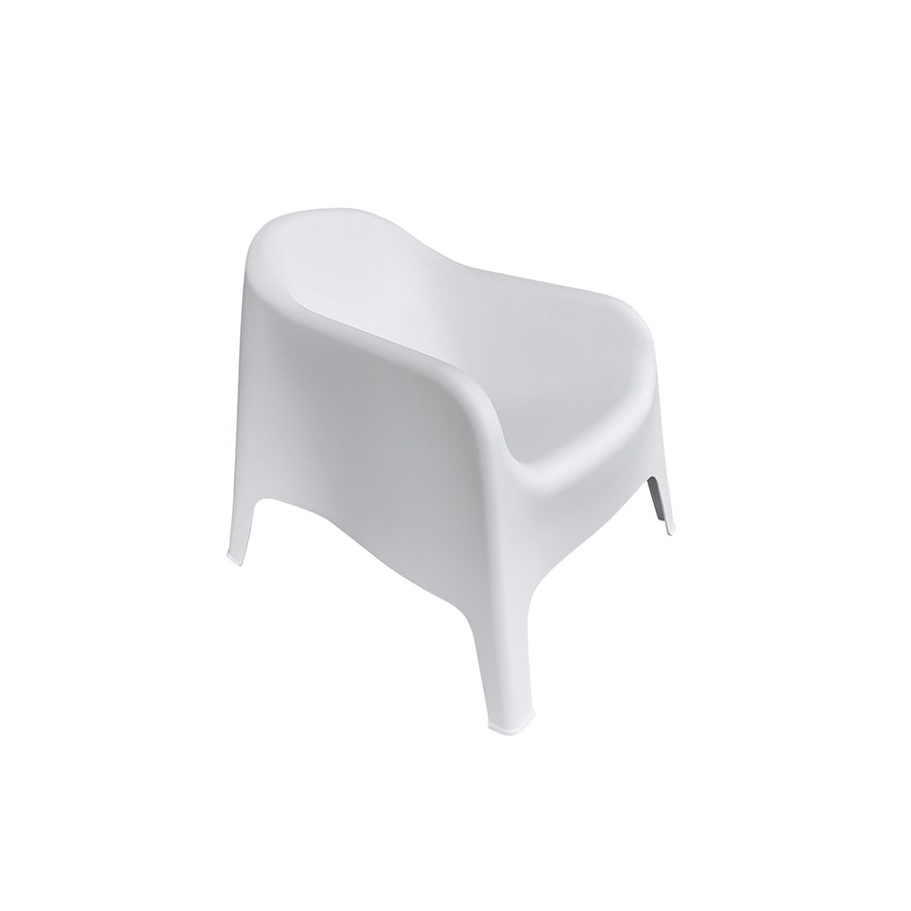Lax white outdoor chair