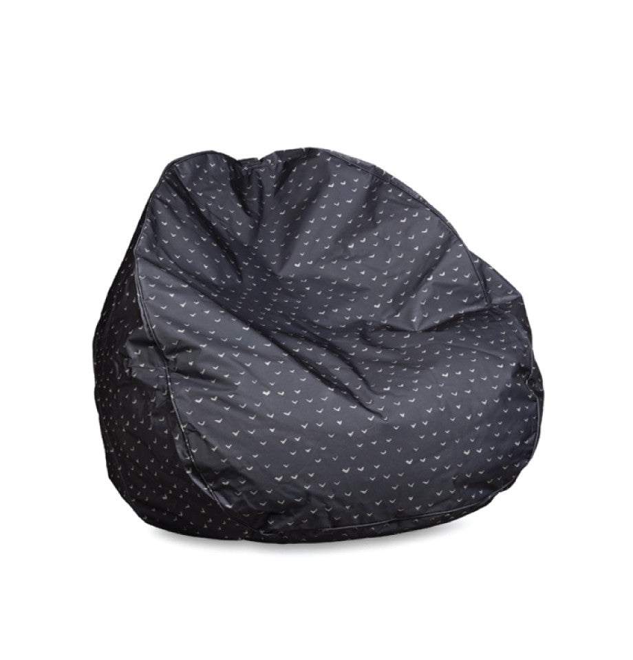 Citta Design - Outdoor Bean Bag - Lela - Black/Milk