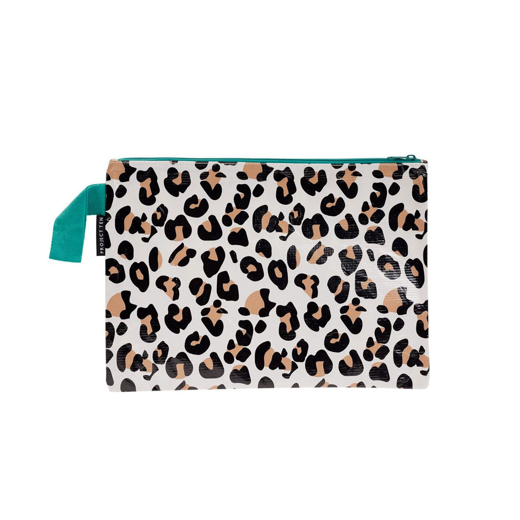 Project Ten - Zip Pouch - Leopard - Large