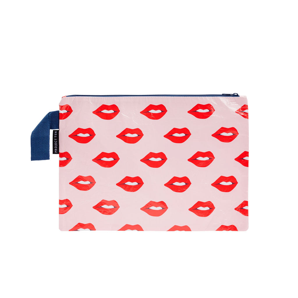 Project Ten - Zip Pouch - Lips - Large
