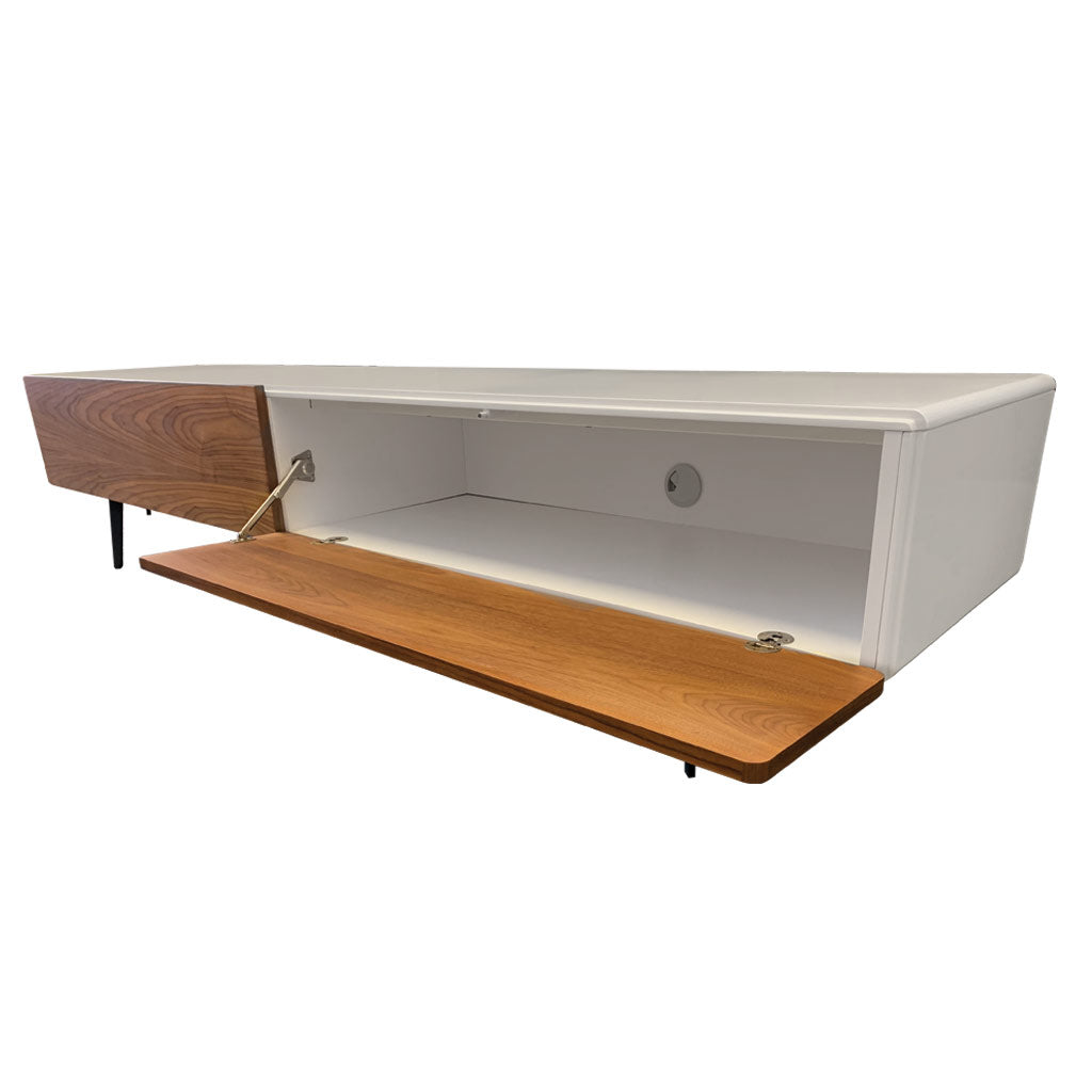 Manly walnut entertainment unit - front flap