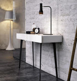 Manly high gloss white narrow Hallway Table