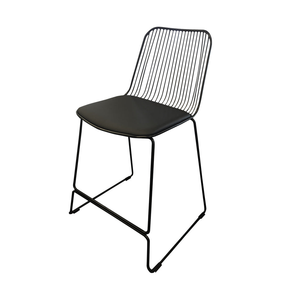 Marlo Bar Stool - Black - Furnish
