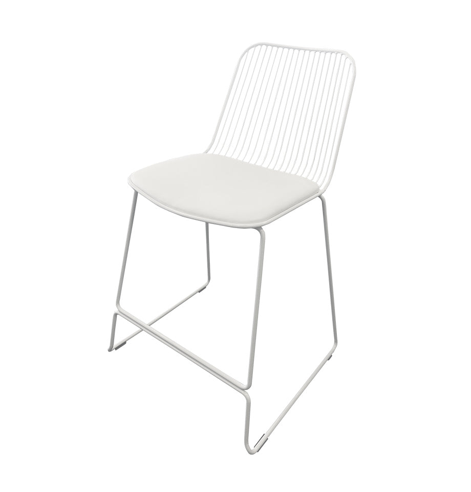 Marlo Bar Stool - White - Furnish