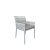 Marsden Outdoor Dining Chair - Mid Grey Rehau German Wicker - P/Coated Alu Frame