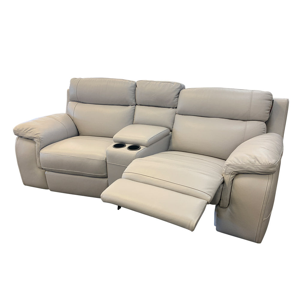 Marzotto 3pce taupe leather cinema suite