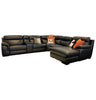 Marzotto 6pce Modular Suite - Black Leather