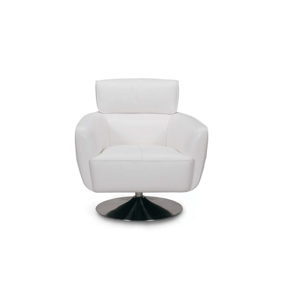 ... Maxwell Swivel Chair   White Leather ...