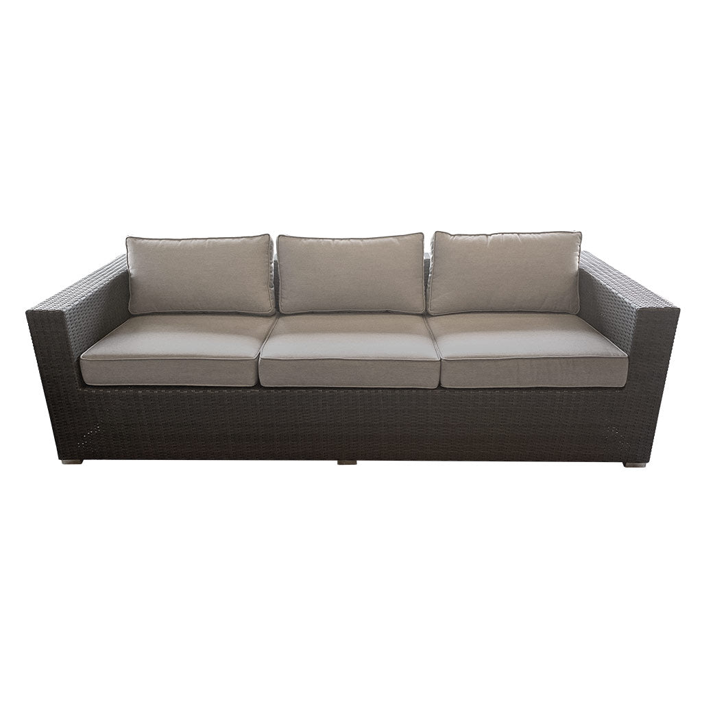 Nassau 3str Outdoor Sofa - German Rehau Wicker