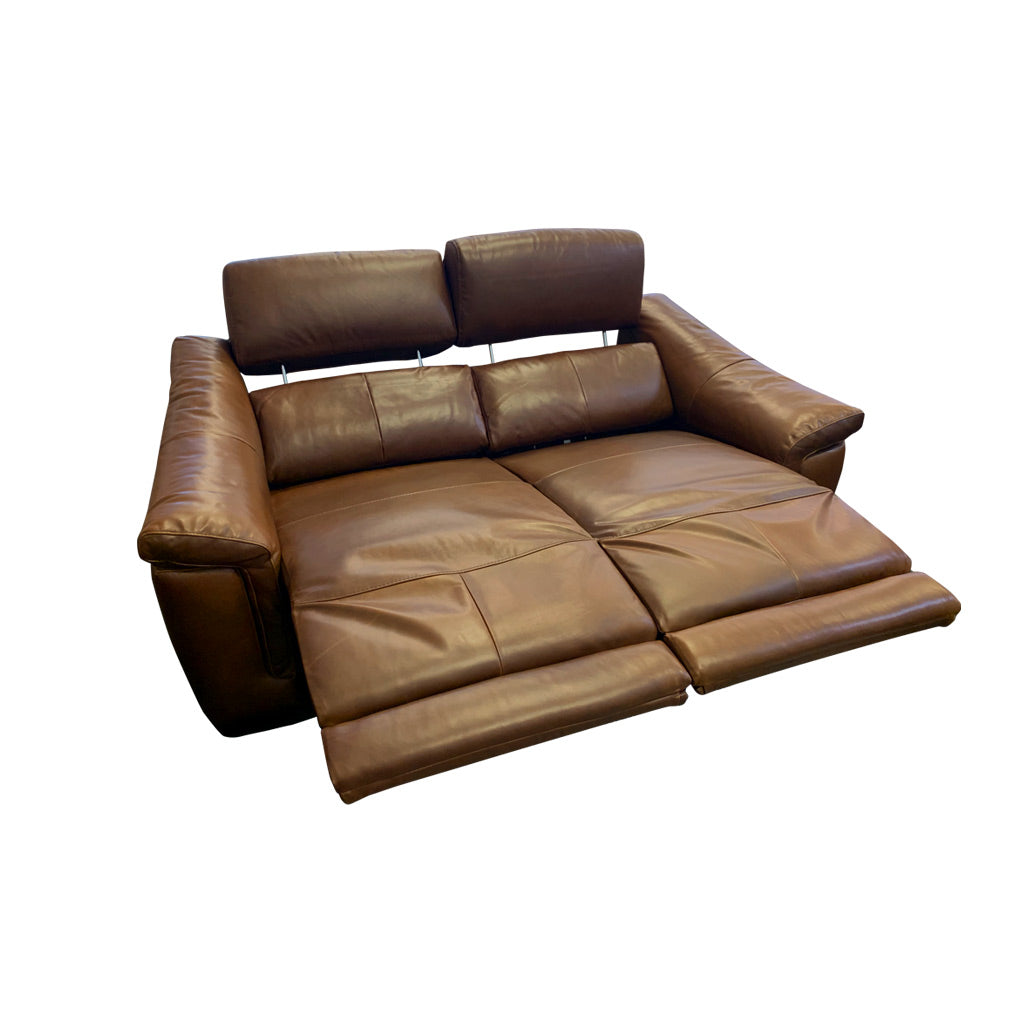 Nevada brown leather electric suite - 2 seater - double recliner