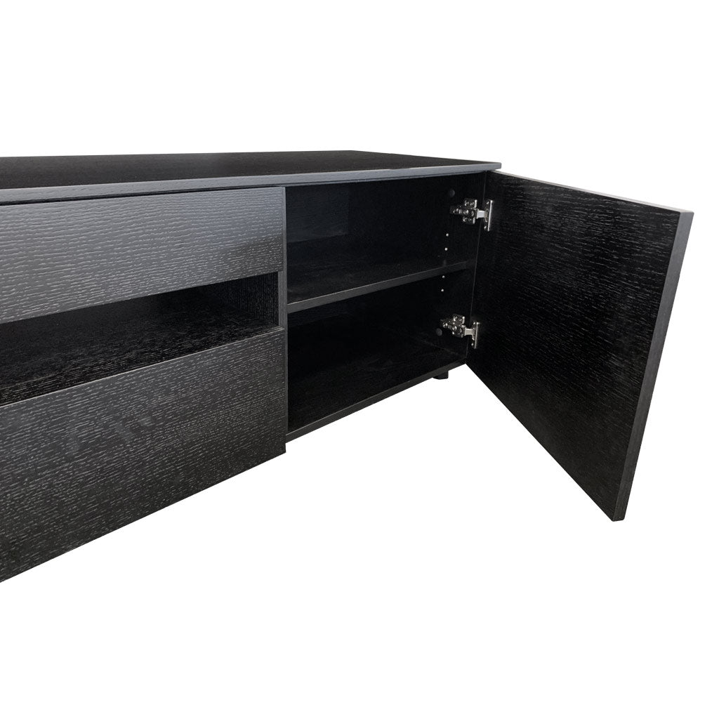 Newtown Entertainment Unit 2200 - Black Oak Veneer