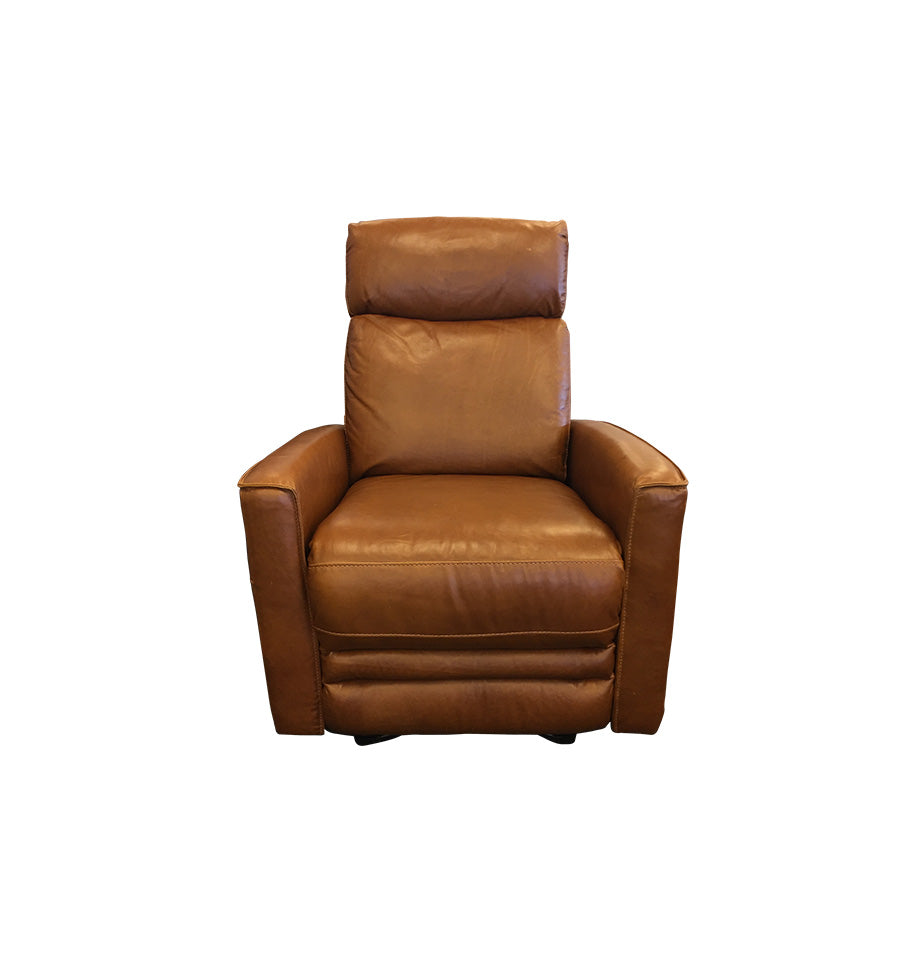 Nice Manual Recliner - Tan All Top Grain Leather