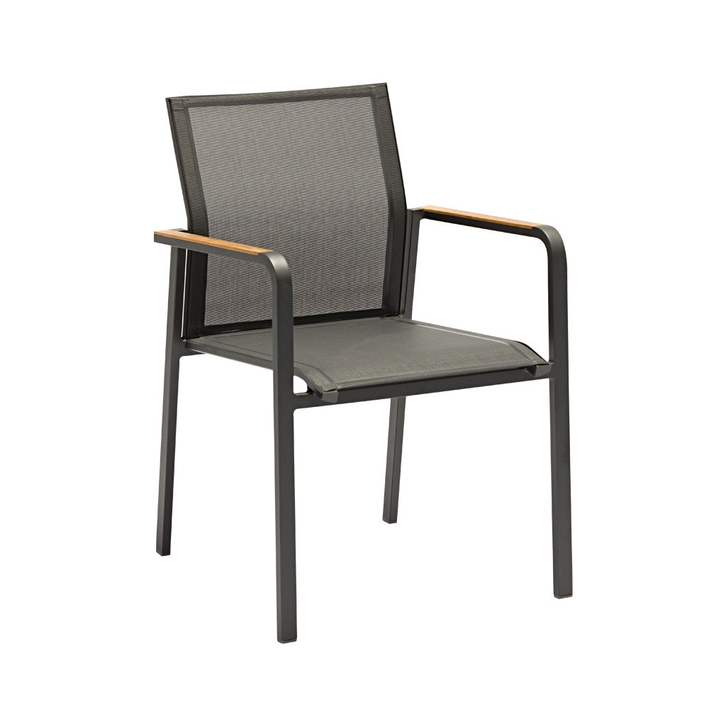 Omaha charcoal outdoor dining chair
