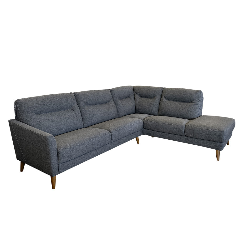 Pacific corner sofa - Charcoal Weave Fabric