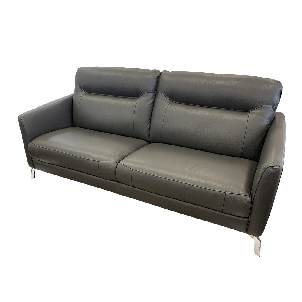 Pacific 3 seater sofa in grey leather