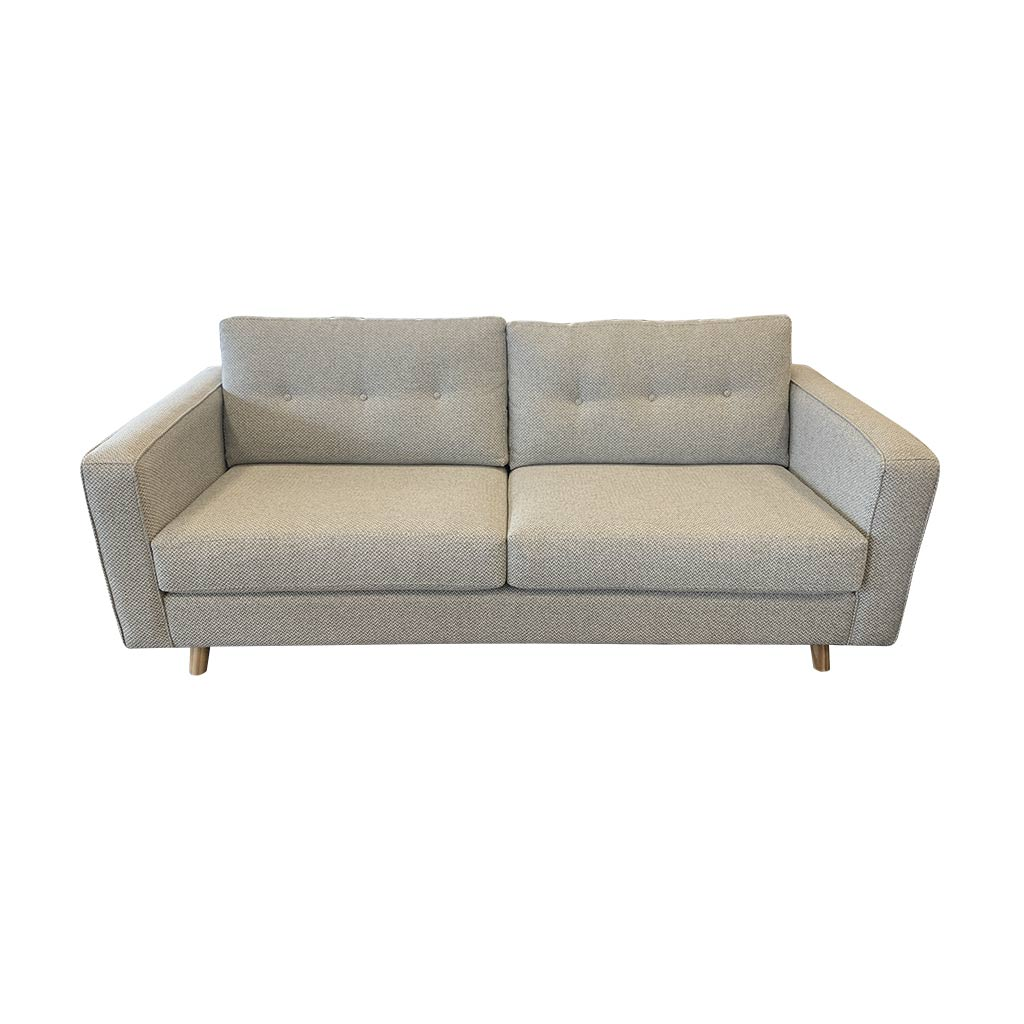 NZ Made 3 Seater Sofa in Loft Steel fabric