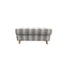 Prague Cushion Top Ottoman - 900x600mm - Warwick Nobu Jet Fabric