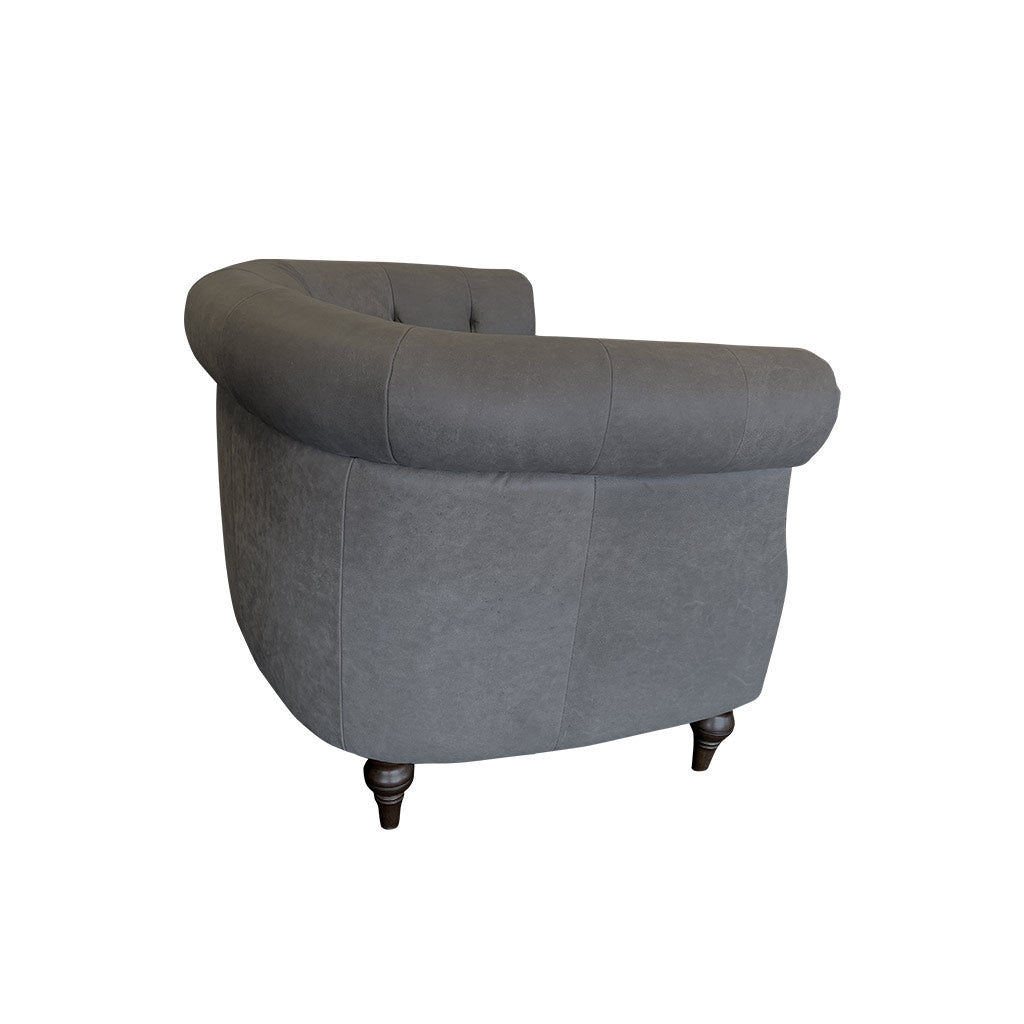 Prince grey leather occasional chair