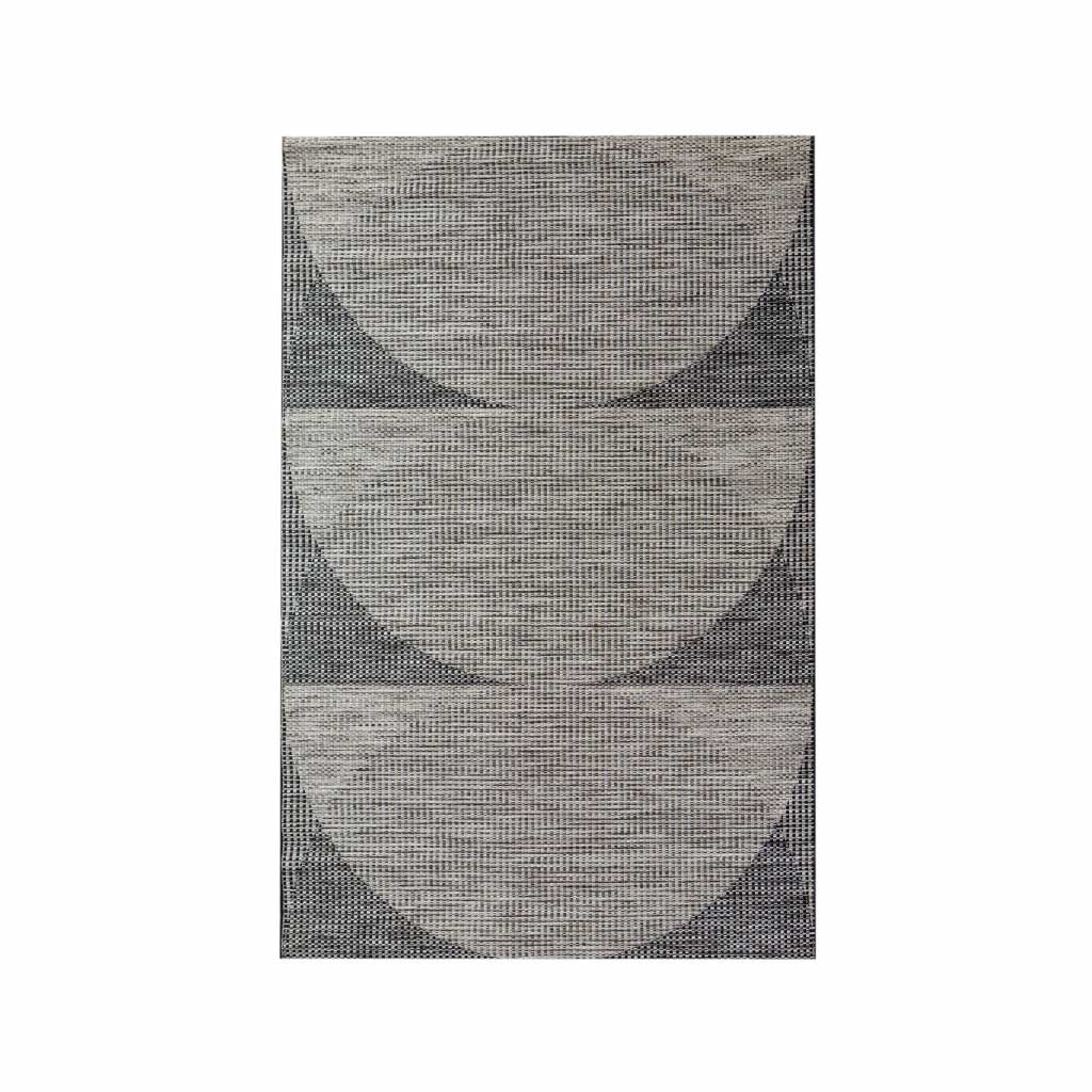 Indoor/Outdoor Rug - Andros - Circles Cliff Charcoal Grey