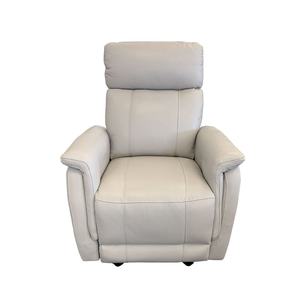 Salerno leather electric recliner - front view