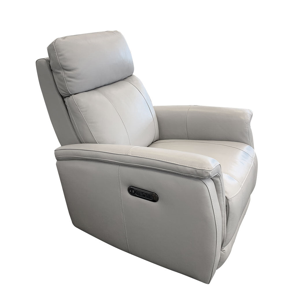 Salerno leather electric recliner