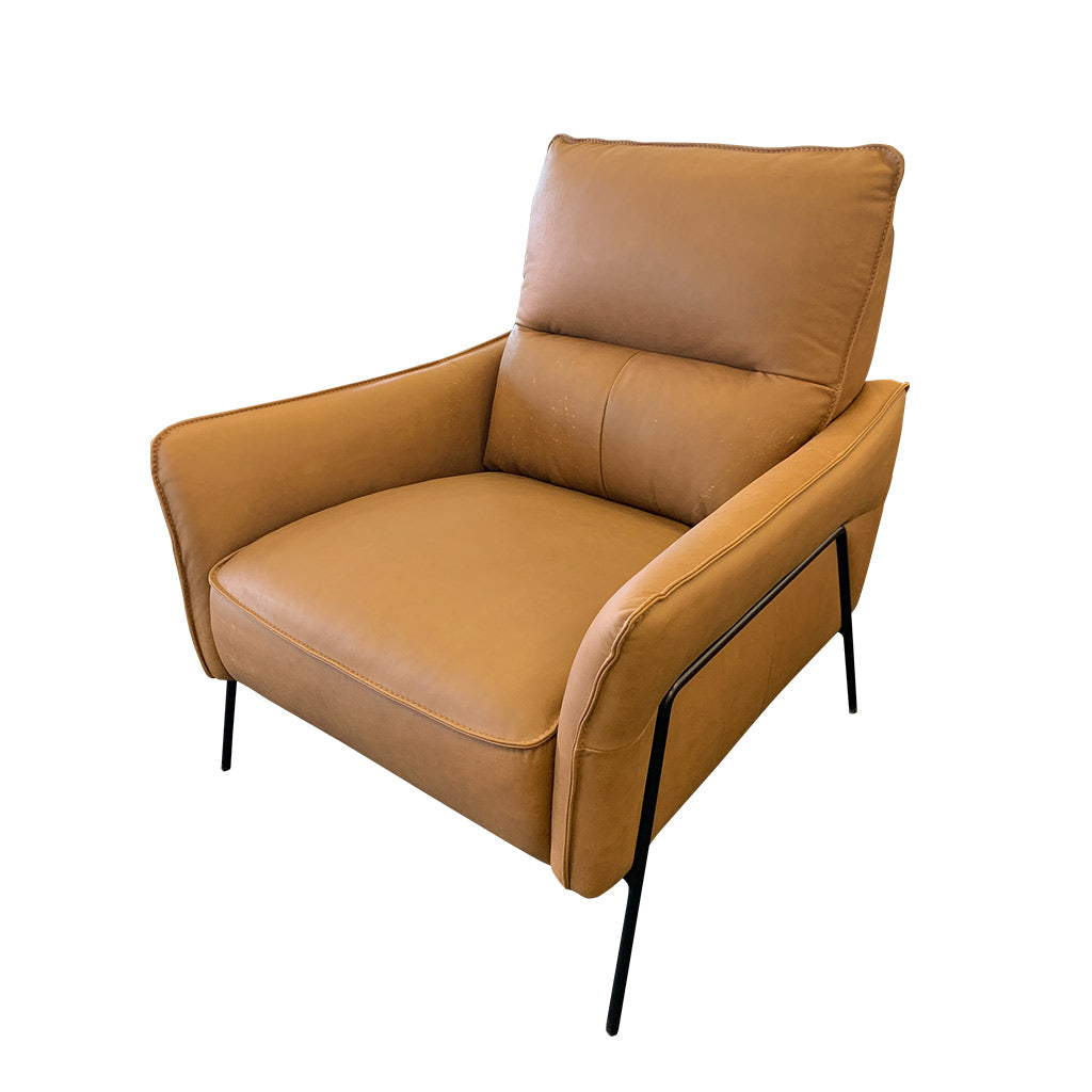 Sandy Occasional Chair in tan full grain leather