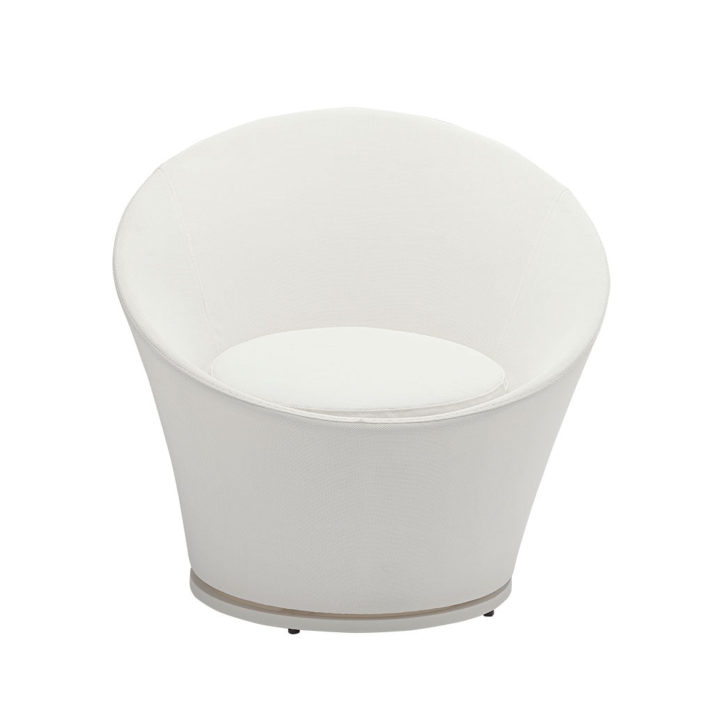 Spin chair in white