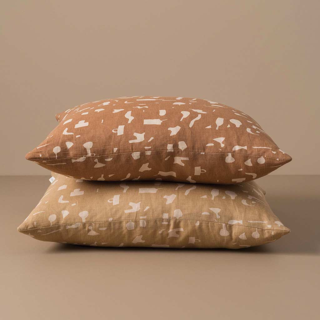 Citta Design Cushion - Still Life Malt/Biscuit and Tea/Biscuit