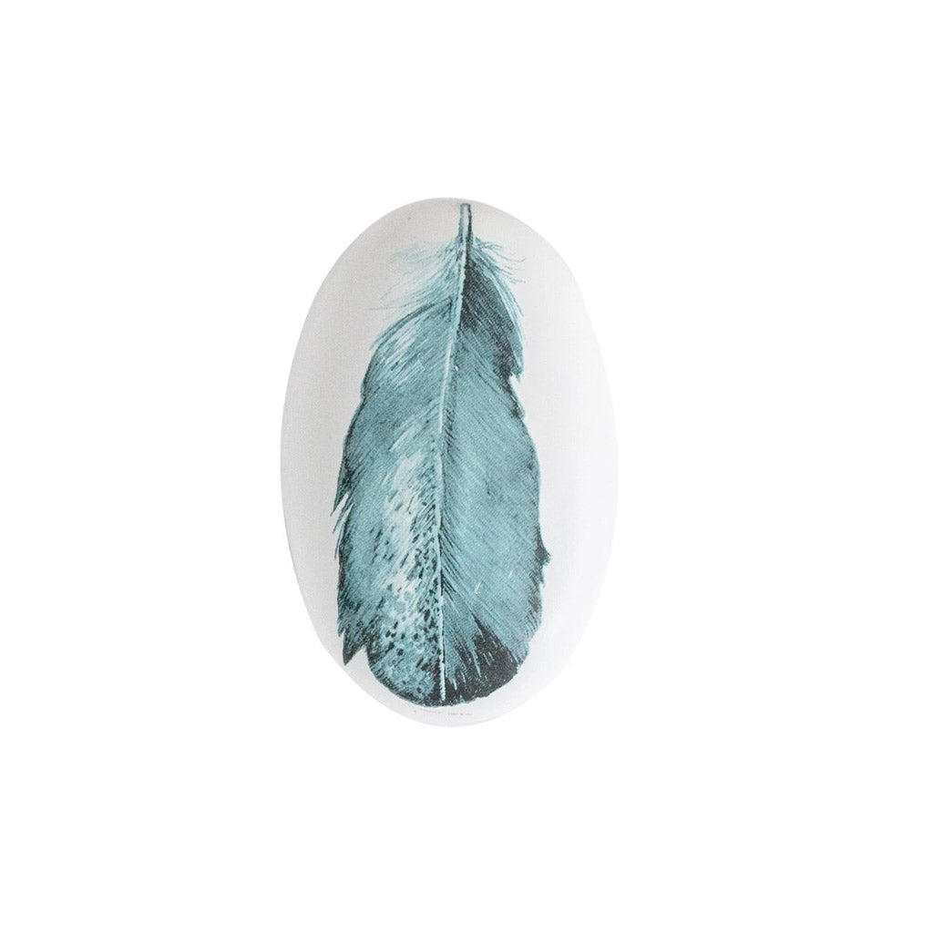 Stone with feather print