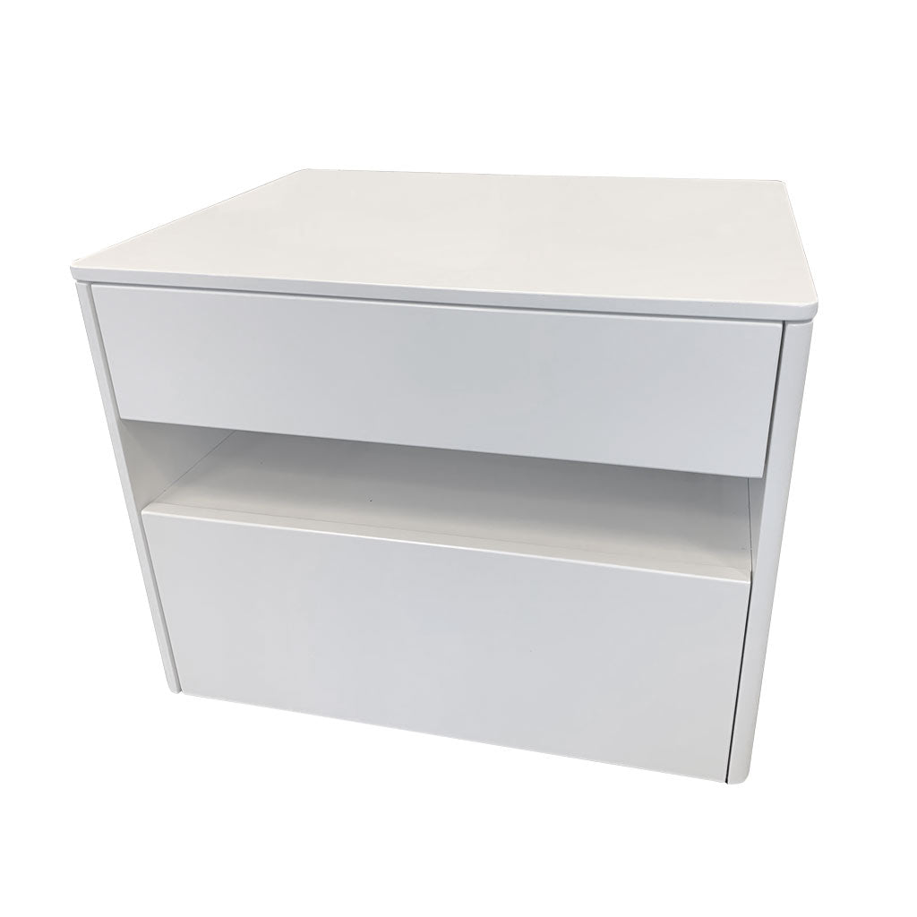 Taylor white gloss bedside drawers