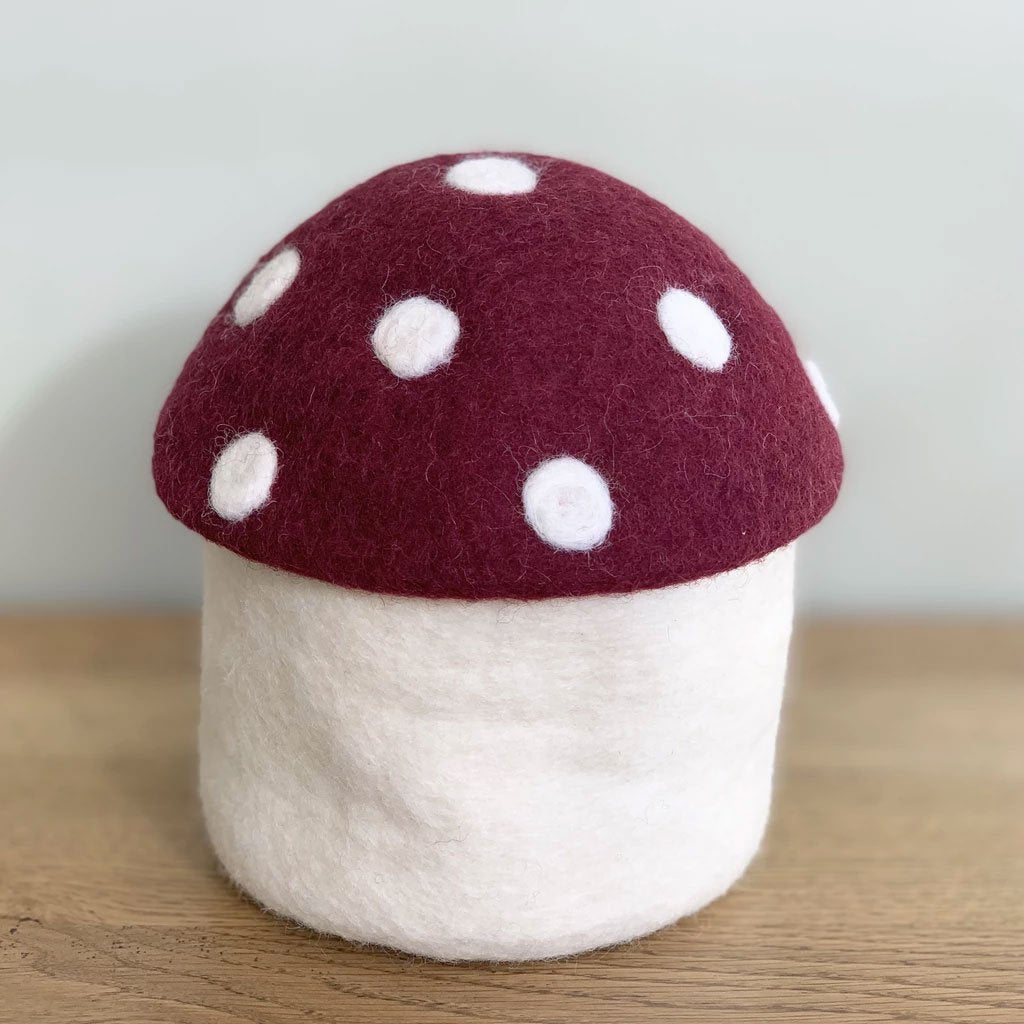 Toadstool Trinket Box - Mulberry