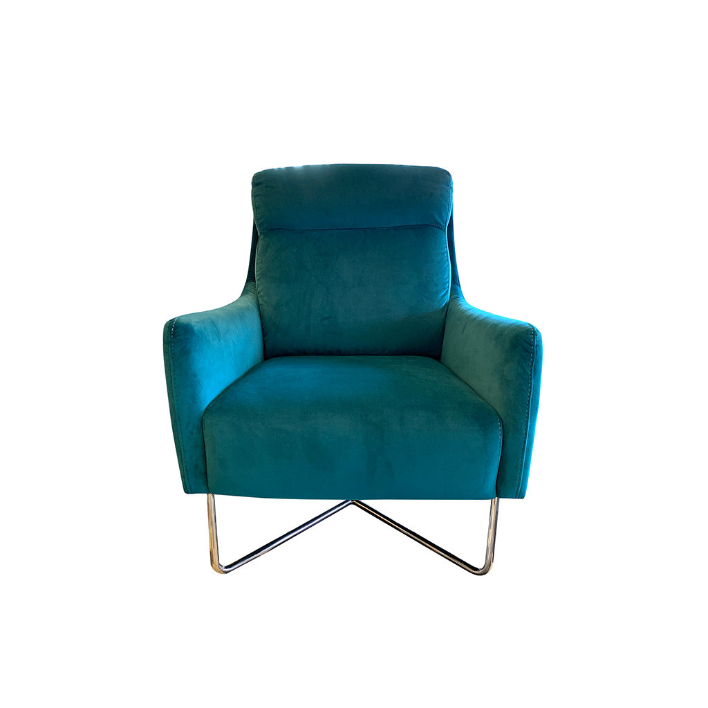 Statement velvet occasional chair