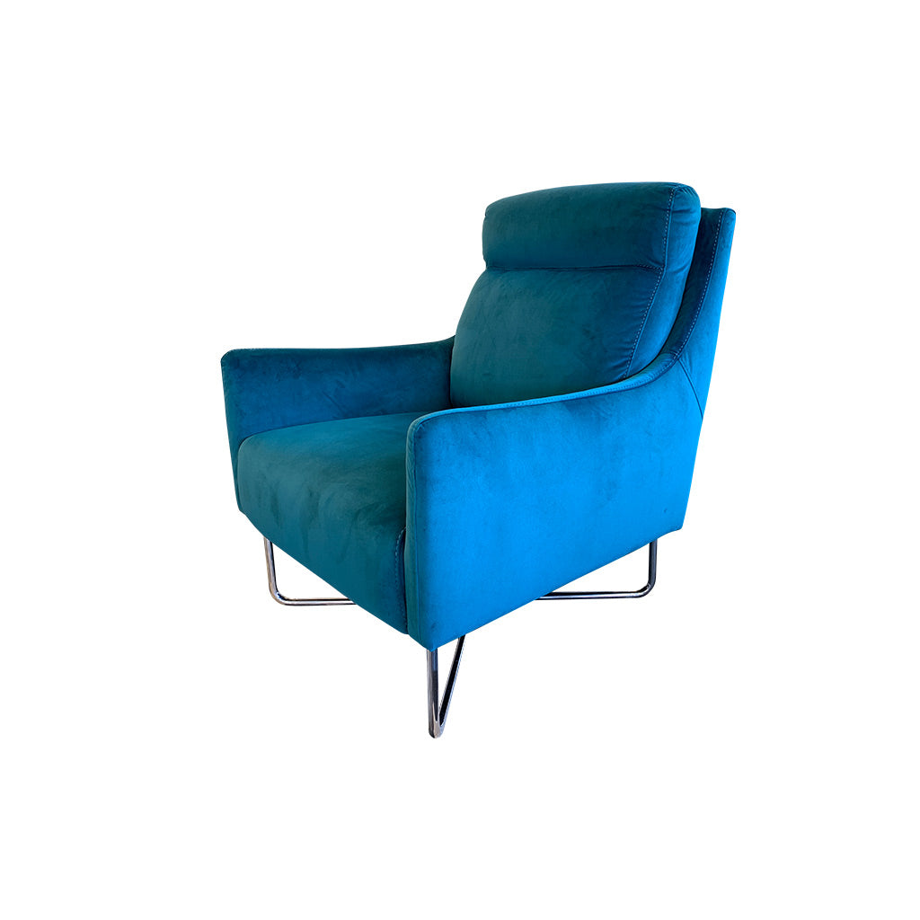 Trento chair in Teal Velvet - Occasional Chair