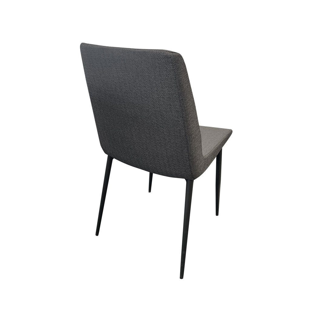 Tyrese graphite fabric dining chair - back